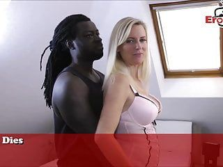 German blond dilettante milf userdate with african porn star