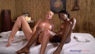 Massage rooms cristal caitlin and swarthy gal boni share gasping orgasms