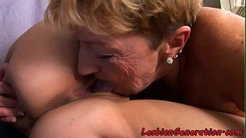 Breasty honey oral job satisfied by older lady