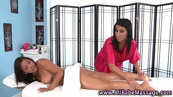 Honey gives lesbo massage
