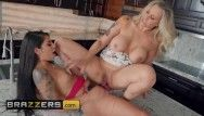Brazzers - thong on gina valentina doms her recent stepmom julia ann