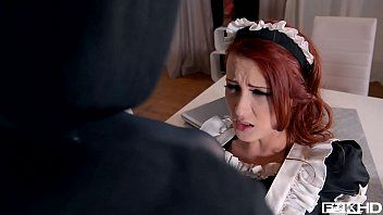 Redhead maid isabella lui catches thief in the action previous to anal fuck