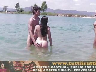 Naked beach fuckfest
